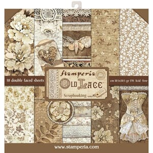 Stamperia: Old Lace Paper Pack, 12x12, 10/Pkg