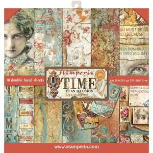 Stamperia: Time is an Illution Paper Pack, 12x12, 10/Pkg