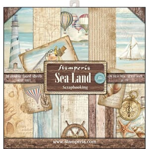 Stamperia: Sea Land Paper Pack, 12x12, 10/Pkg