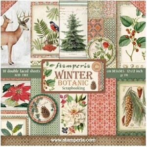 Stamperia: Winter Botanic Paper Pack, 12x12, 10/Pkg