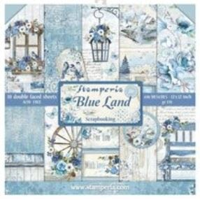 Stamperia: Blue Land 12x12 Inch Paper Pack, 10/Pkg