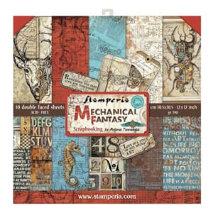Stamperia: Mechanical Fantasy Paper Pack, 12x12, 10/Pkg