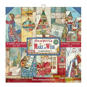 Stamperia: Make A Wish Paper Pack, 12x12, 10/Pkg