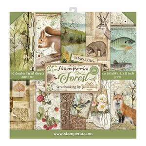 Stamperia: Forest Paper Pack, 12x12, 10/Pkg