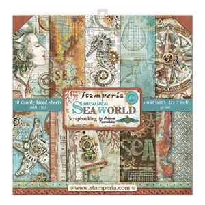 Stamperia: Sea World Paper Pack, 12x12, 10/Pkg