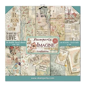 Stamperia: Imagine Paper Pack, 12x12, 10/Pkg