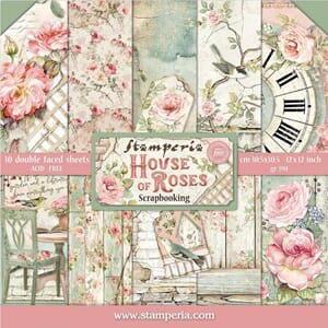 Stamperia: House of Roses Paper Pack, 12x12, 10/Pkg