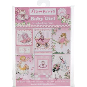 Stamperia: Baby Girl Cards Pad, str 4.5x6.5 inch, 24/Pkg