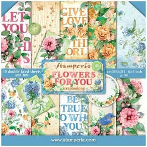 Stamperia: Flowers for You Paper Pack, 8x8, 10/Pkg
