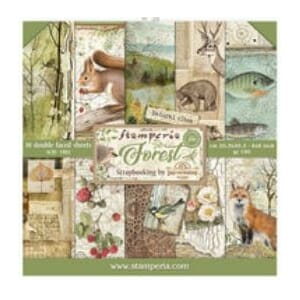 Stamperia: Forest Paper Pack, 8x8, 10/Pkg