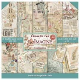 Stamperia: Imagine Paper Pack, 8x8, 10/Pkg