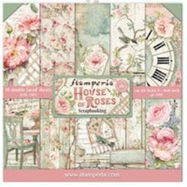 Stamperia: House of Roses Paper Pack, 8x8, 10/Pkg