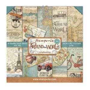 Stamperia: Around the World Paper Pack, 8x8, 10/Pkg