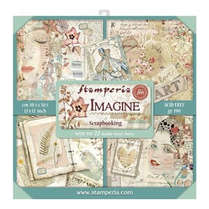Stamperia: Imagine Paper Pack, 12x12, 22/Pkg