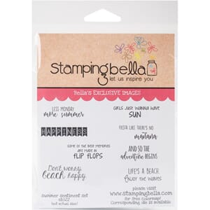 Stamping Bella: Summer Sentiment Cling Stamps