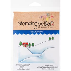 Stamping Bella: Winter Backdrop Cling Stamps