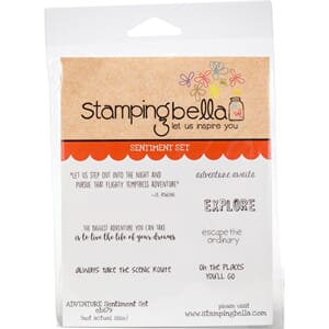 Stamping Bella: Adventure Sentiment Cling Stamps