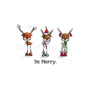 Stamping Bella: Oddball Reindeer Set Cling Stamps