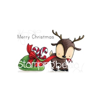Stamping Bella: Reindeer With A Gift Stuffie Cling Stamps