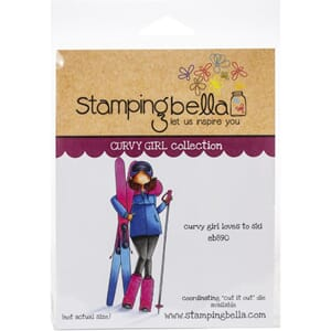 Stamping Bella: Curvy Girl Loves To Ski Cling Stamps