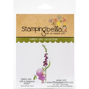 Stamping Bella: Bundle Girl With A Foxglove Cling Stamps