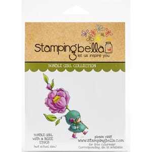 Stamping Bella: Bundle Girl With A Rose Cling Stamps