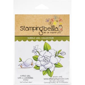 Stamping Bella: Bundle Girl With Gardenia Cling Stamps