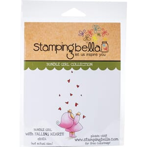 Stamping Bella: Bundle Girl With Falling Hearts Cling Stamps