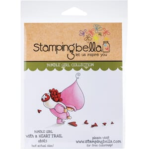 Stamping Bella: Bundle Girl With A Heart Trail Cling Stamps