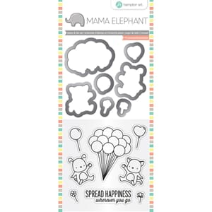 Mama Elephant: Up We Go Stamp & Die Set, 4x8 inch