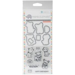 Mama Elephant: Puppy Play Stamp & Die Set, 4x8 inch