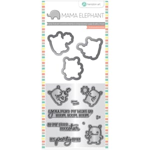 Mama Elephant: Rock Monster Stamp & Die Set, 4x8 inch