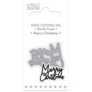 Simply Creative Merry Christmas Die, 3x4 inch