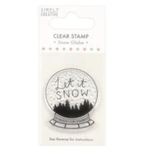 Simply Creative Let It Snow Snowgl Clear Stamp, str 3x4 inch
