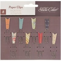 Studio Calico: Abroad Paper Clips With Fabric 8/Pkg