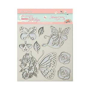 Stamperia: Circle Of Love Butterfly Decorative Chips