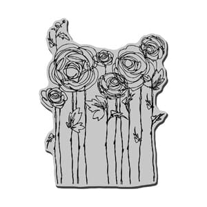 Stampendous: Ranunculus Field - Cling Rubber Stamp