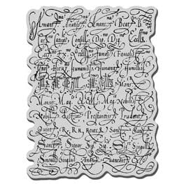 Stampendous: Calligraphy Sampler - Cling Rubber Stamp