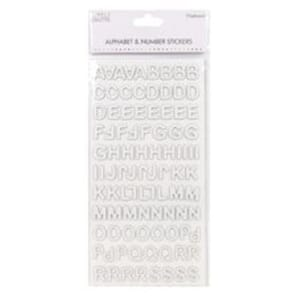 Simply Creative: White Alphabet & Number Chipboard Stickers