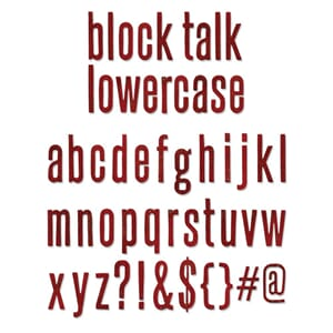 Sizzix: Block Talk Lowercase Alphabet - Bigz XL Die