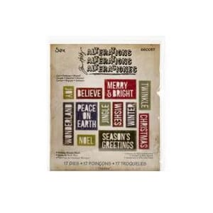 Sizzix: Block Holiday Words - Thinlits Dies By Tim Holtz