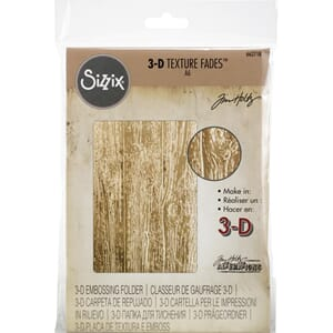 Sizzix: Lumber 3D Texture Fades Embossing Folder By Tim Holt