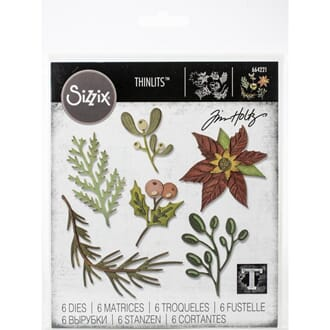 Sizzix: Funky Festive Florals Thinlits Dies By Tim Holtz, 12