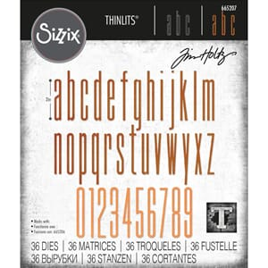 Sizzix: Alphanumeric Stretch Lower & Numbers Thinlits Die