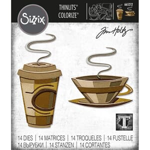 Sizzix: Cafe Colorize Thinlits Die By Tim Holtz
