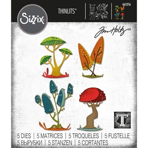 Sizzix: Funky Toadstools Thinlits Die By Tim Holtz