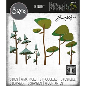 Sizzix: Funky Trees Thinlits Die By Tim Holtz