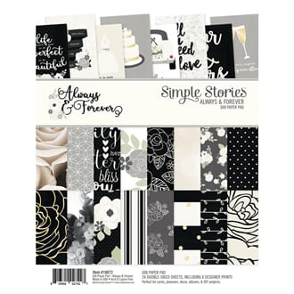 Simple Stories: Always & Forever Paper Pad, 6x8, 24/Pkg