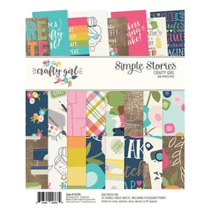 Simple Stories: Crafty Girl Paper Pad, 6x8, 24/Pkg