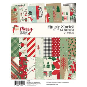 Simple Stories: Merry & Bright Paper Pad, 6x8, 24/Pkg